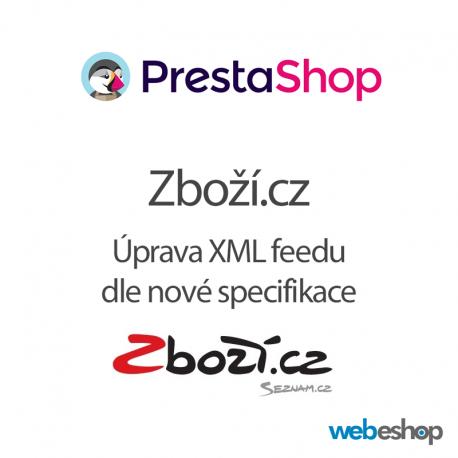 Úprava XML feedu pro zboží.cz - dle nové specifikace