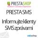 SMS modul PrestaShop PrestaSMS