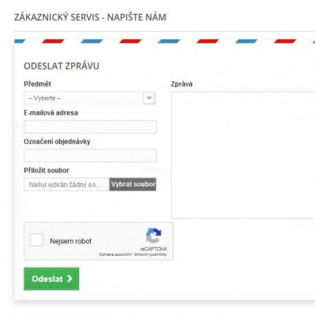 Zabezpečení kontaktního formuláře - PrestaShop
